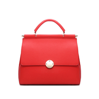 2018 Amasie New Arrival Leather Handbag Luxury Red Fashion Design Lady Wedding Purse Small Tote 2 Size EGT0344