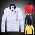 High quality polo homme Aeronautica Militare Polo Shirt Long sleeve Air Force One man Brands polo ralphmen shirt large size XXL