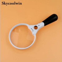 Handheld Magnifier 3 LED Light 2X 4X 25X Reading Magnifying Glass Lens Jewelry Loupe *