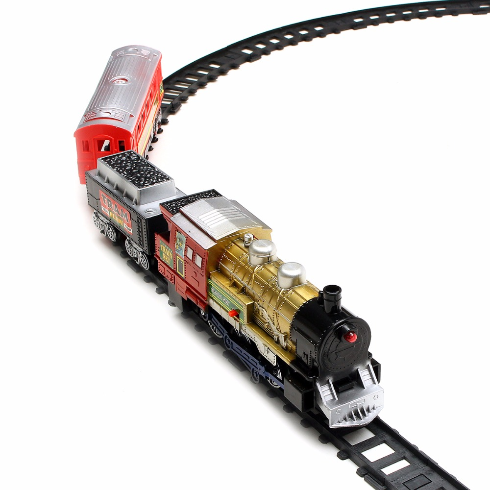Electric Remote Control RC Train Rail Set With Light Music Model Toy For Kids Children ...