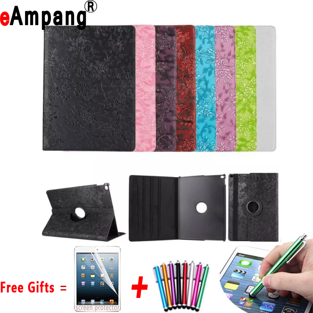 Grape Pattern For Apple iPad Pro 9.7 Cases PU Leather Smart Cover For iPad Pro 9.7 Case Skin Shell 360 Rotating with Stand for ipad mini4 cover high quality soft tpu rubber back case for ipad mini 4 silicone back cover semi transparent case shell skin