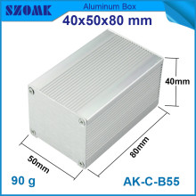 4pcs/lot hot selling aluminium housing enclosure heatsink control box for electronics 40*50*80mm