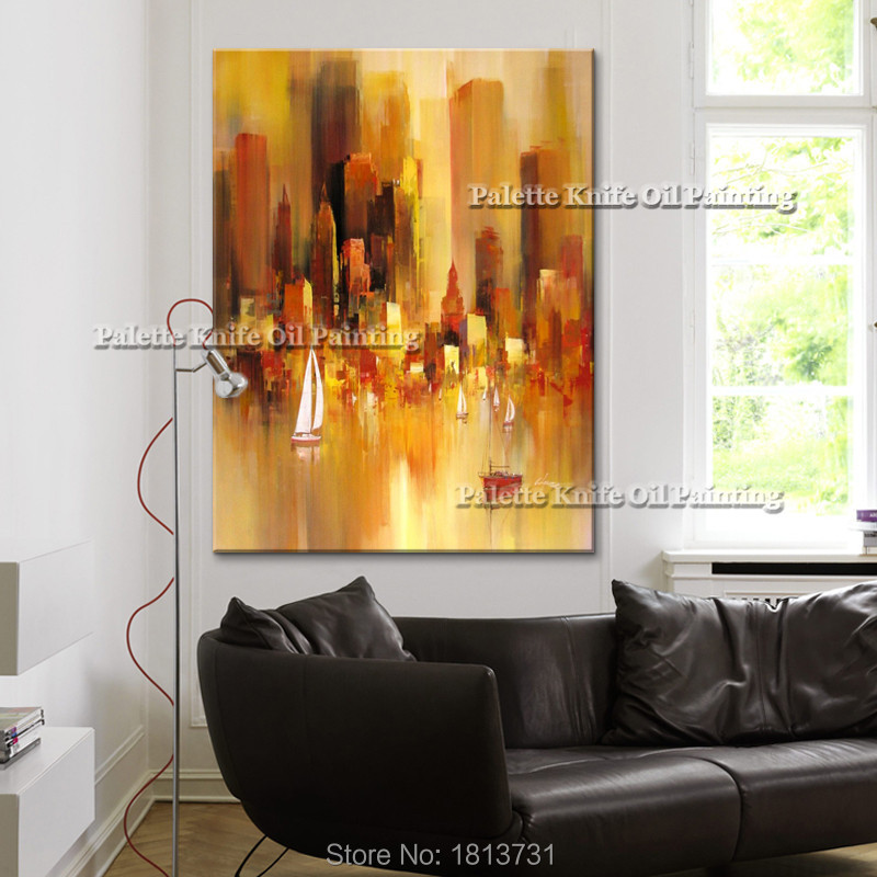 Cny Home Decor: New York City Painting Home Decor Home Decoration Oil