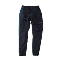 Rarebone Mens 100 Cotton Classic Lastic Leg Opening Elastic Waist Multiple Pockets Men Pants L 4X