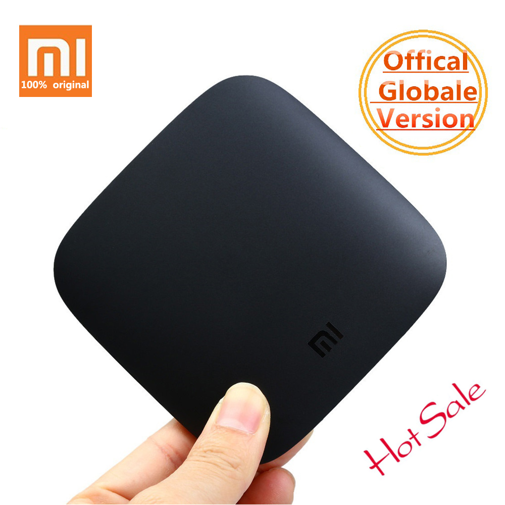 Original Xiaomi Mi 3 3S BOX TV Android 6.0 2G/8G Smart 4K Quad Core HDR Movie Set-top Box Media Player Netflix YouTube Google original xiaomi mi tv box 3 smart 4k quad core hd 2g 8g android 6 0 wifi google cast netflix red bull media player set top box
