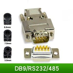 Klasy przemysłowej DB9 RS232 485 Port szeregowy wtyczka 9 Pin D-SUB9 złącze 9p mężczyzna kobieta złącze 2 sztuk/partia