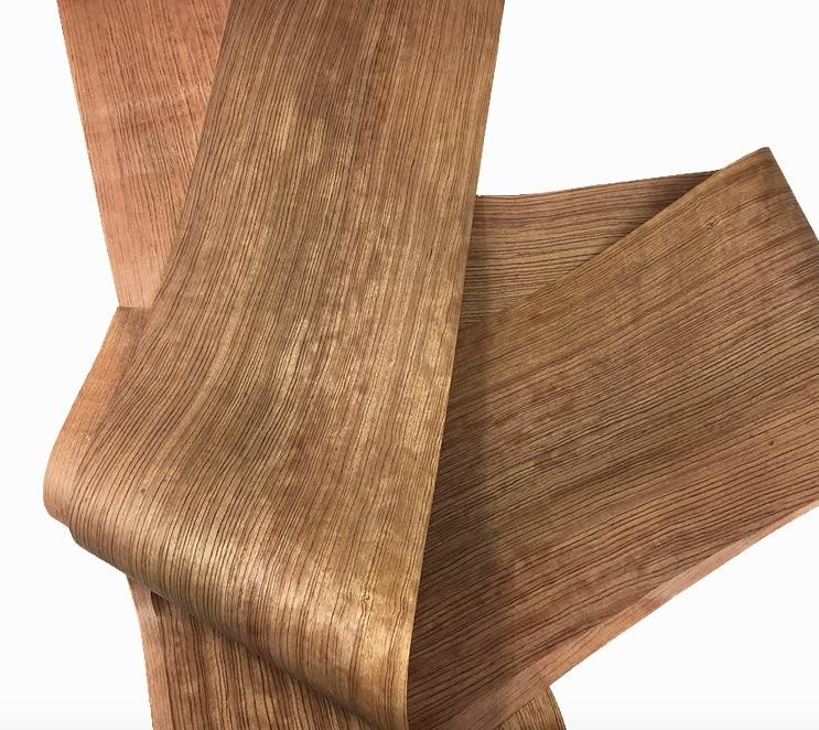 L: 2.5 М/шт Ширина: 260 мм Толщина: 0.18 мм Природный груша прямо зерна шпона Твердой древесины Динамик шкуры