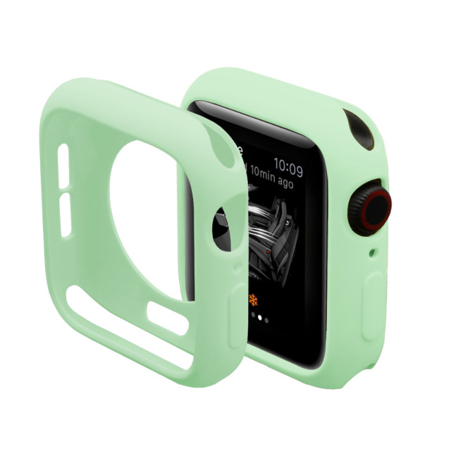 Candy Color Rubber Case For Apple Watch Series 4 3 2 1 Silicone Protective Cover for iWatch 40mm 44mm 38mm 42mm