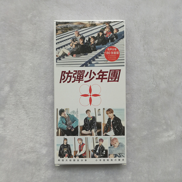 BTS You Never Walk Alone 30 Photo Card and 120 Stickers