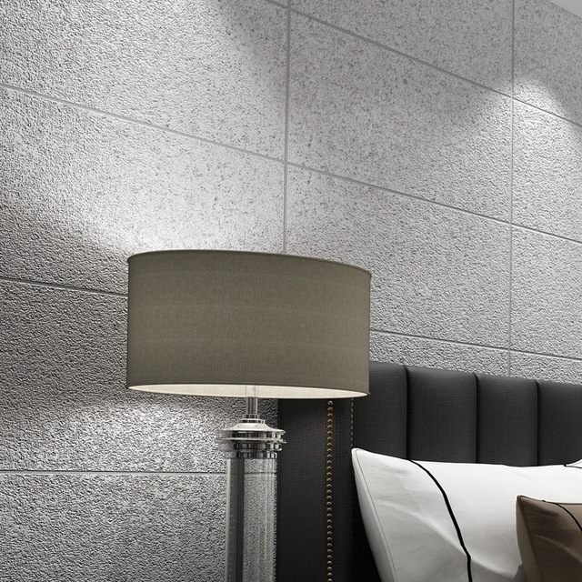 D Nicht Woven Beflockung Tapeten Moderne Einfache Nachahmung Marmor - Fliesen beflocken
