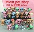 24PCS/Lot Little Pet Shop LPS Set Minis Figures Rare Cat Horse Gota Mom Blythe Monkey Zoe Juguetes Minifigures Toys Brinquedos