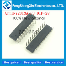 5pcs/lot 100% New original ATTINY2313A-PU ATTINY2313 DIP-20 8-bit Microcontroller chip(China)