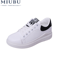 MIUBU Superstar Shoes Woman White Sneakers Solid Hard-wearing Causal Lace-up Cross Straps Non-slip Womens Round Toe