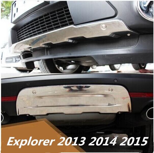 JIOYNG спереди + задний бампер диффузор протектор гвардии картера для Ford Explorer 2013 2014 2015 по EMS