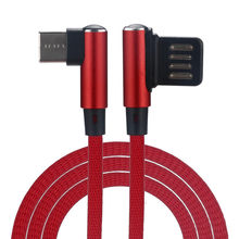 EPULA Universal 1m 90 Degree Right Angle Type-C/Micro USB Fast Data Sync Charger Cable For Samsung For Huawei For Android Phone(China)