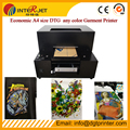 Digital economical t shirt printing machine direct to  t-shirt A4 size printer