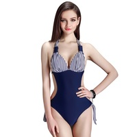 One Piece Swimsuit Women Plus Size Swimwear 2017 Sexy Backless Bodysuit Swimwear High Cut Bathing Suit