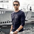 AK CLUB Brand T-shirt 2016 New World War 2 Pearl Harbor Print T Shirt 100% Cotton Long Sleeve Tshirt Casual Men T-shirt 1409011