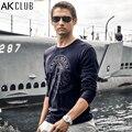 AK Marca CLUB de Camiseta 2016 Nueva Guerra Mundial 2 Pearl Harbor impresión de La Camiseta 100% de Algodón de Manga Larga Camiseta Ocasional de Los Hombres T-shirt 1409011