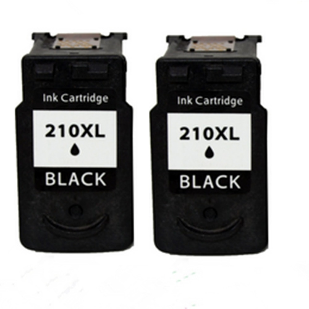 2 Black Remanufactured Ink Cartridges For Canon PG 210 XL 210XL PG210 Pixma MP495 MX320 MX330 MX340 MX350 MX410 MX420 In From
