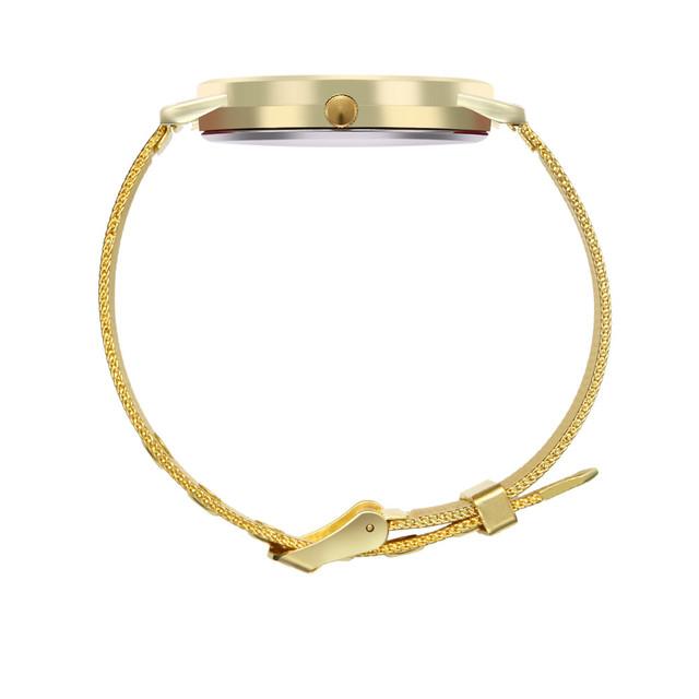 Reloj Clock Vintage Quartz Wristwatches Women Watches Business Round Mesh Strap Watchband Quartz Bracelet Watch New Fashion