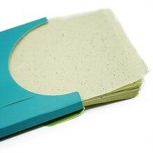 80 hojas/caja Cara Herramientas de Papel Absorbente de Aceite de Papel Cara Maquiagem Maquillaje Potente Limpieza Del Tejido Facial