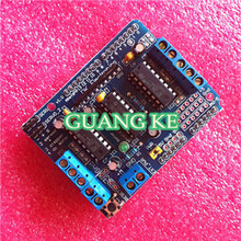 Best price 5pcs /lot Motor Drive Shield L293D For Arduino Duemilanove Mega / UNO, Free Shipping , Dropshipping(China)