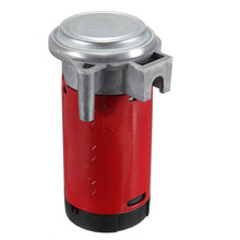Red 12V Universal Car Horn Air Compressor Horn Air Pump Portable Car Air Pump Fit for Air Horns for Car/ Truck / Vehicle for volvo car 7h15 air conditioner compressor pump with pulley 11104419 11412632 15082742