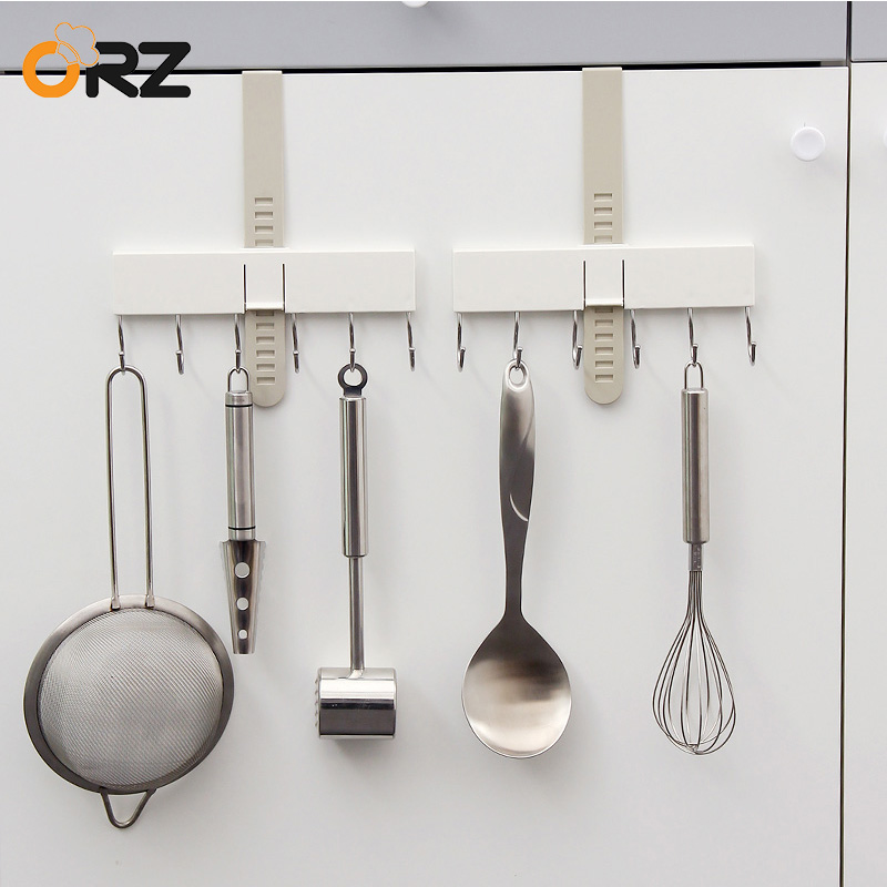 ORZ 2PCS Adjustable Kitchen Organizer Cabinet Hook