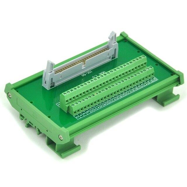 Tremendous Idc 50 Din Rail Mounted Interface Module Breakout Board Terminal Wiring Digital Resources Otenewoestevosnl
