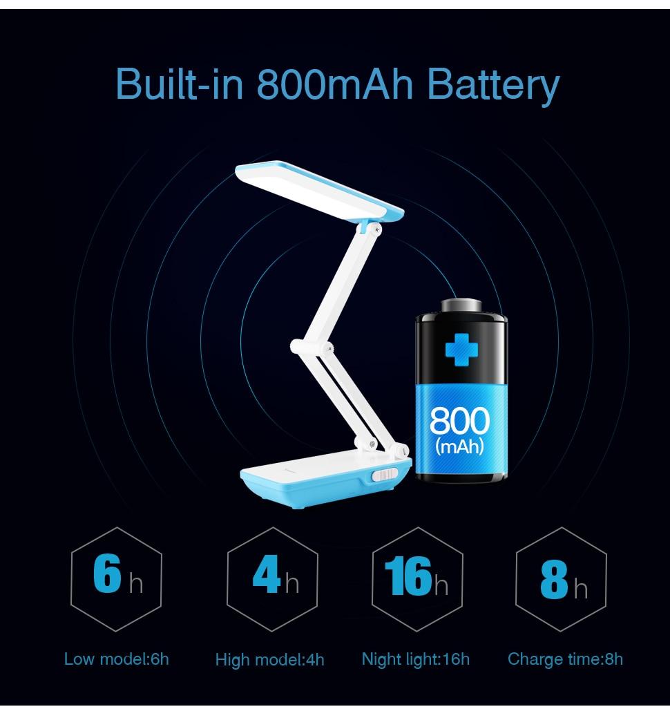 YAGE Led Desk Lamps Night Light Foldable LED Table Lamp 1050mAh Battery in Table Light Flexible Three Modes Mini Lamp Flash Deal 11