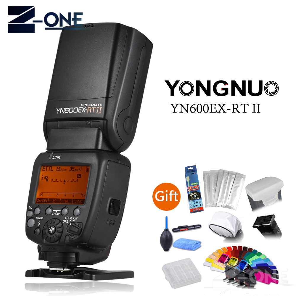 YONGNUO YN600EX-RT II Flash Speedlite 2.4G Wireless HSS 1/8000s Master TTL Speedlight for Canon DSLR as 600EX-RT YN600EX RT II title=