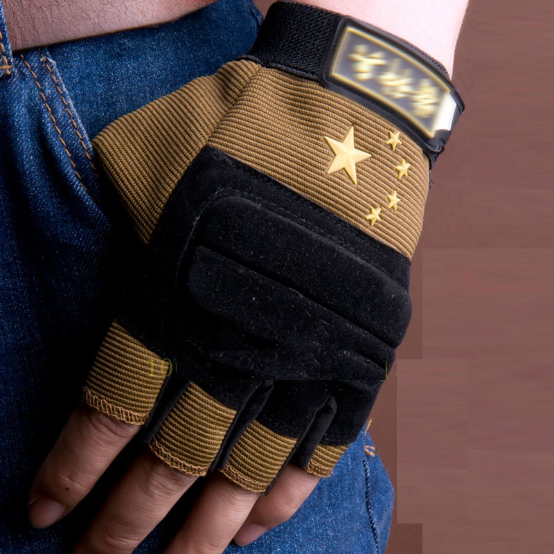 The new non-slip gloves, outdoor tactical combat training military fans fighting half-finger stab Perak