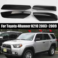 NEW 4PCS Glossy Black ABS Plastic Roof Rack Bar Rail End Replacement Cover Shell For Toyota 4Runner N210 2003~2009