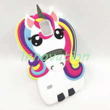 цена на For Samsung Galaxy S5 Neo Capa Cute 3D Unicorn Pony Horse Phone Case For Coque Samsung Galaxy S5 Fundas Silicone Soft Back Cover