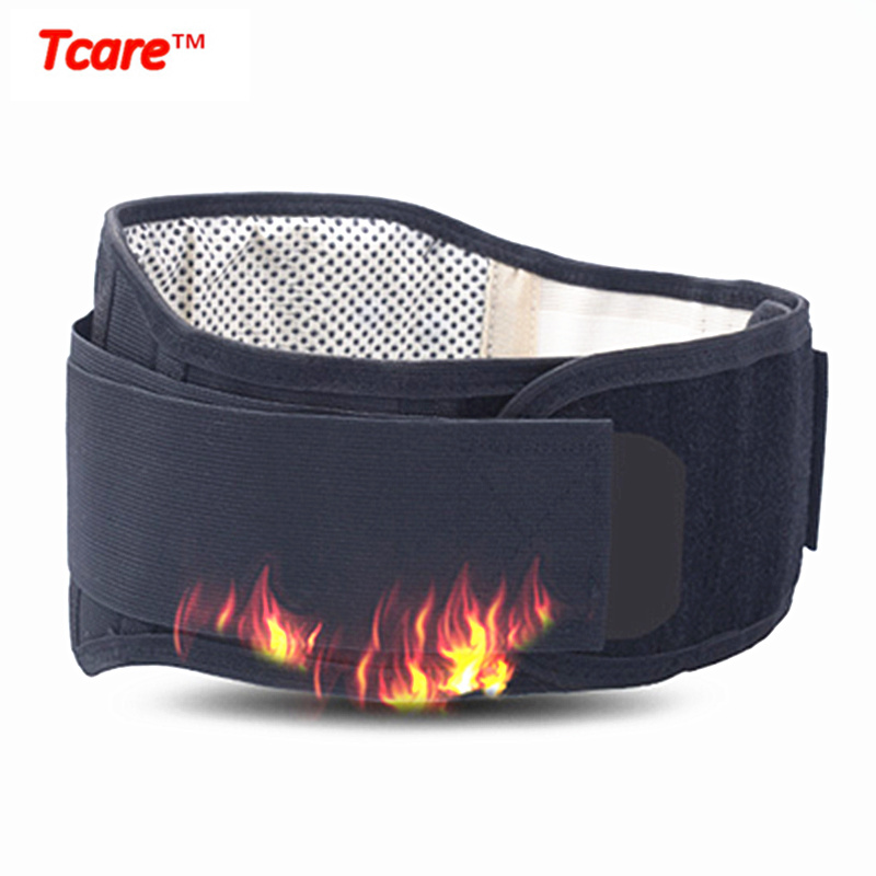 Tcare Health Care Tourmaline Waist Belt Self Heating Magnetic Therapy Lumbar Support Waist Brace Belts tcare adjustable tourmaline self heating magnetic therapy waist support belt lumbar back waist brace double band health care