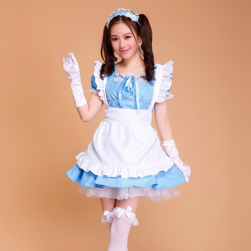halloween costumes for women maid plus size Sexy Anime Cosplay Sissy Maid Uniform French Maid Costume Sweet Gothic Lolita Dress