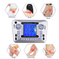 Dual Output Pulse Massager Electrical Muscle Stimulator Tens Acupuncture Machine Electro Therapy Body Massage Device Pain Relief