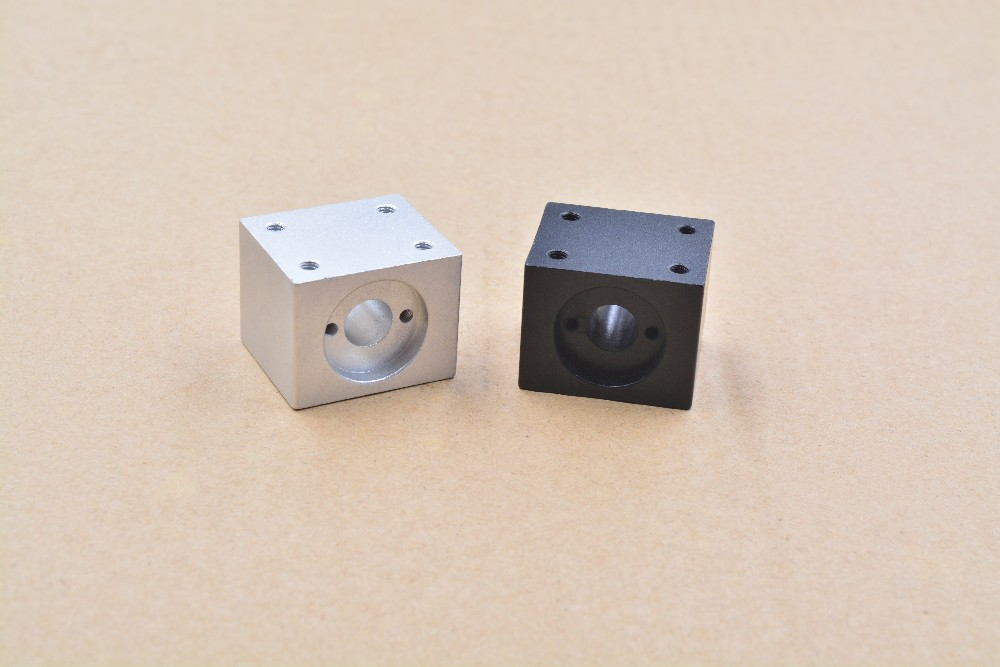 1pcs T8/T10/T12 Trapezoidal Quartet Block Screw Nut Seat Housing Mounting Bracket Aluminum For 3D Printer Parts Wholesale