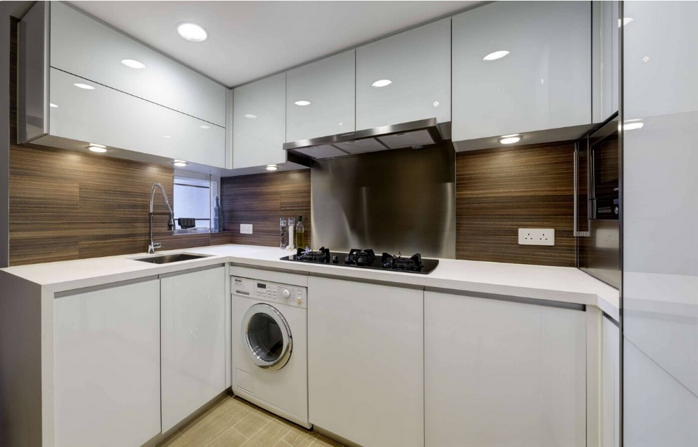 2017 Spray Paint High Gloss Lacquer Plywood Carcase Modular Kitchen Cabinets Furniture Hot Sales Kitchen Unit