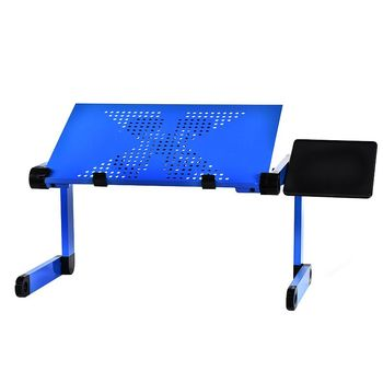 Aluminum alloy laptop table adjustable portable folding computer desk students dormitory laptop table stand tray for sofa bed