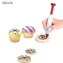XZJJA Creative High Quality Silicone Chocolate Salad Sauce Pen For Decorating Cookies Cake Pastry Baking Tools