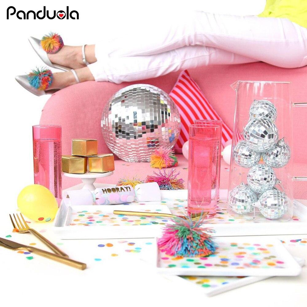 Kids Birthday Party Decorations Reflective Mirror Ball Bachelor Party Bar Disco DJ Mirror Reflection Glass Ball Cake Decoration