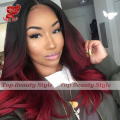 2016 Fashion Brazilian Hair Long Wave Wigs Synthetic Lace Front Wigs Red Ombre Color Heat Resistant Synthetic Hair Wigs