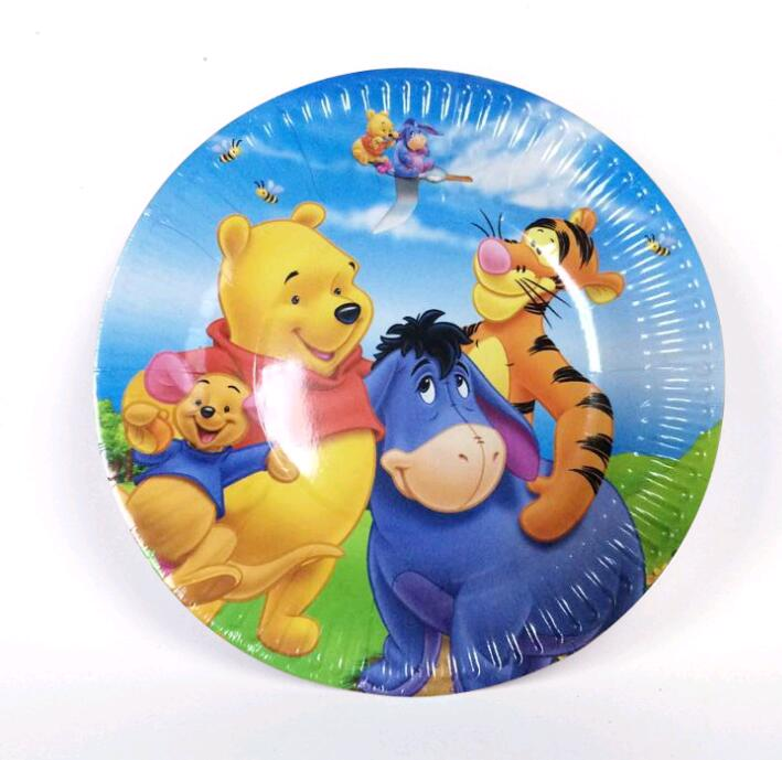 7inch 10pcs Kids Favors Winnie the Pooh Baby Shower Tableware Paper Plates Happy Birthday Party Decoration Events Supplies-in Disposable Party Tableware ...  sc 1 st  AliExpress.com & 7inch 10pcs Kids Favors Winnie the Pooh Baby Shower Tableware Paper ...