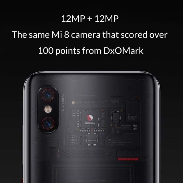Global Version Xiaomi Mi 8 Pro 8GB 128GB Mobile Phone Snapdragon 845 Octa Core 2248 x 1080 FHD Dual-frequency GPS AI Dual Camera
