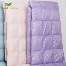 functional duck down Comforter portable hiking camping blanket travel light duvets colorful summer bed quilts outdoor sport mat