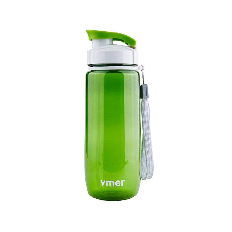 560ml or 590ml Plastic Water Bottle Simple Design Leak-proof Portable Sports Travel Space Drinkware