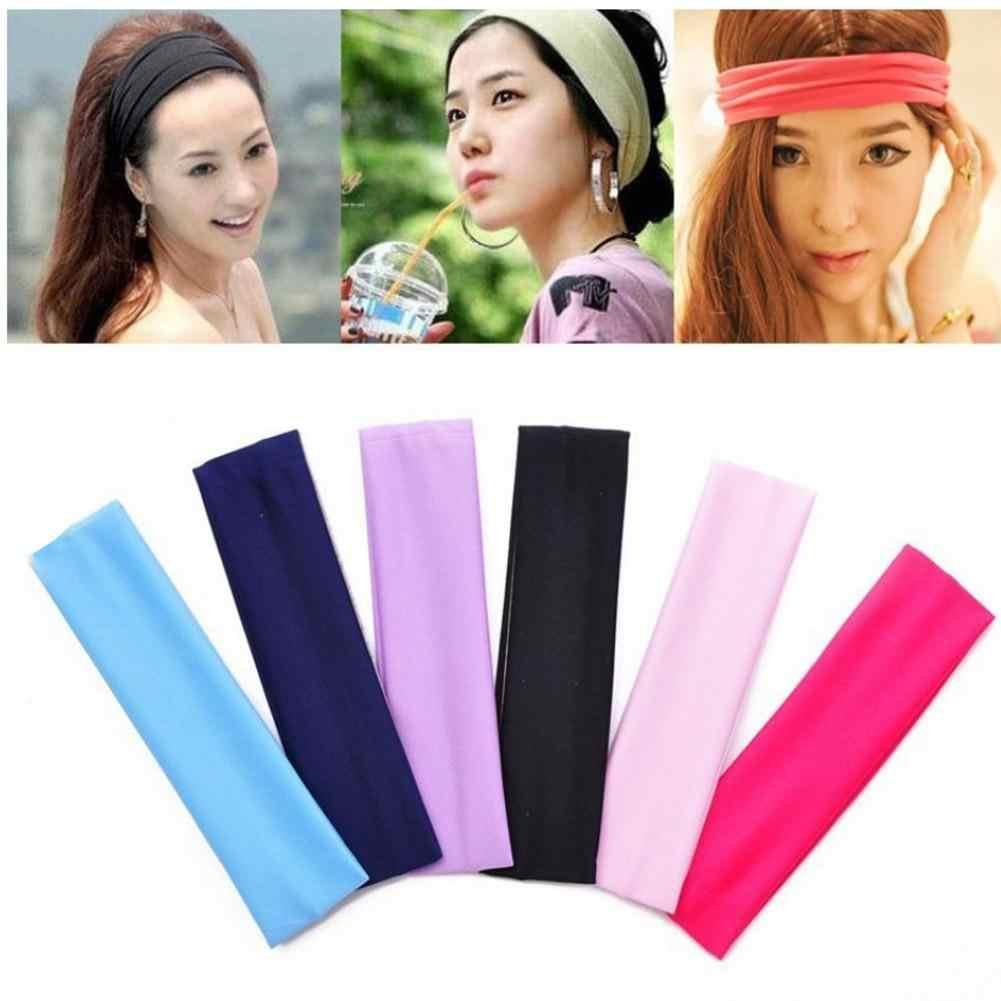 Koreańska wersja akcesoria do włosów joga sportowe elastyczne monochromatyczny opaska do włosów trening siłownia Sport Fitness na świeżym powietrzu ćwiczeń do biegania