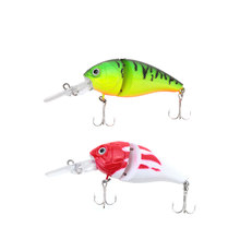 14g 8.5cm 2 Jointed Fishing Life-like Hard Lure Chubby Fatty Crank Bait Tackle with Treble Hooks(China)